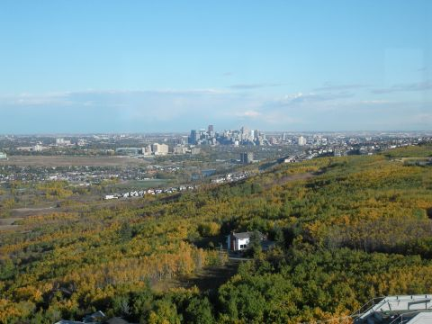 Downtown Calgary, viewed from the olympic tower