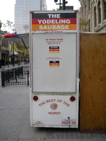 the yodelling sausage