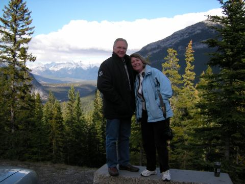 Bill & Charlette in front of the bow valley