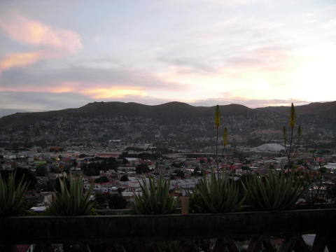 View of the roof of my house in Oaxaca