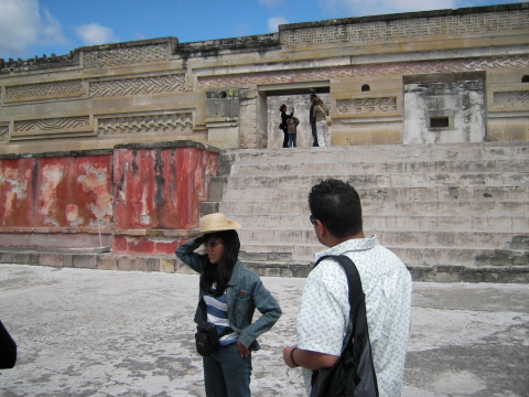 Edith at the Temple of Mitla