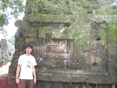 GUA, Tikal - Me with my cowboyhat from San Cristobal